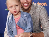 Riley Curry and Steph Curry